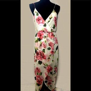 Lush high-low front opening spring dress